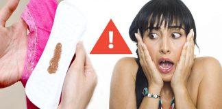 flujo marrón menstruación café
